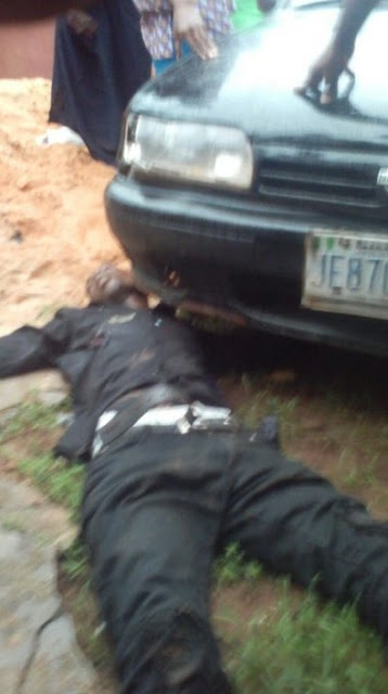 Suspected Cultist Stoned to Death, Another Shot in the Stomach in Benin (Photos)
