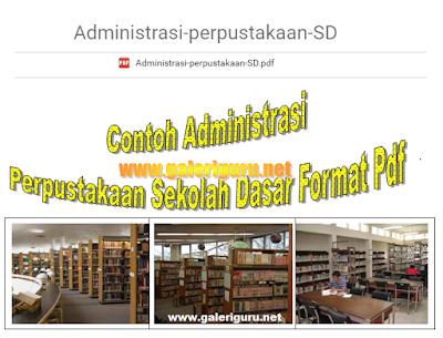 Contoh Administrasi Perpustakaan Sekolah Dasar Format Pdf