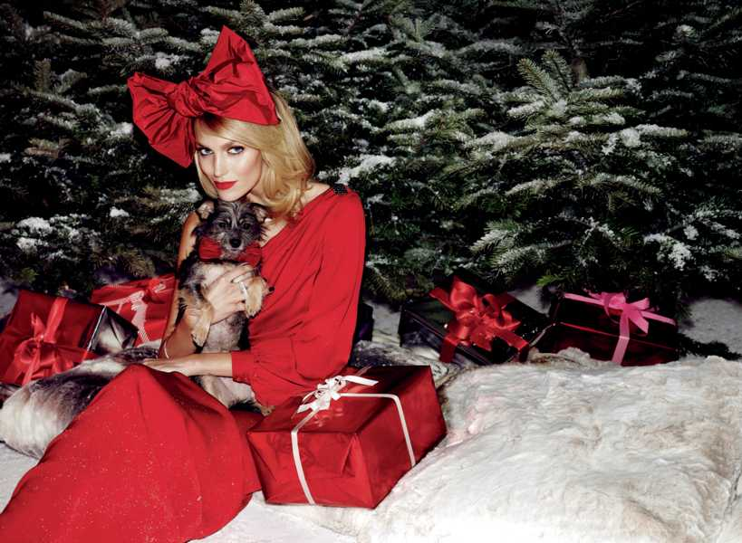 Anja Rubik Christmas fashion editorial - UK style blog