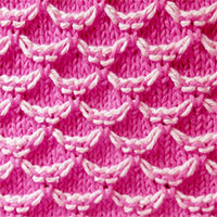Two-Color Honeycomb Stitch. Color Knitting Pattern. It is especially nice for color work and textured stitch patterns