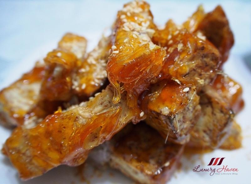 chinese new year sugar coated yam fries recipe