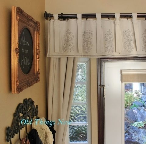 drop cloth draperies for my front door