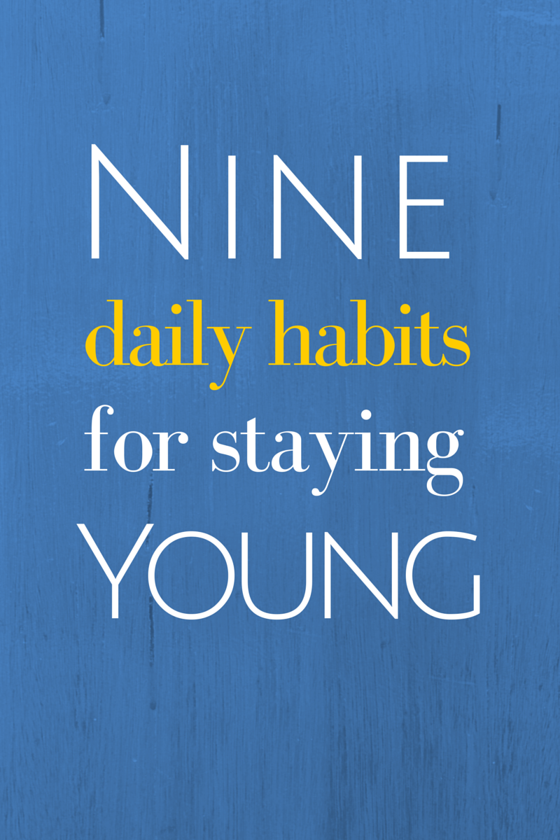 "Stay young and vibrant to live the active life you desire. Form these healthy habits now and you won't even need an ""anti-aging program!"" (TheHealthMinded.com) #health #antiaging"