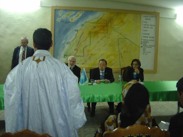 قائمة الشباب الصحراوي الذين كان لهم لقاء مع الامين العام للامم المتحدة