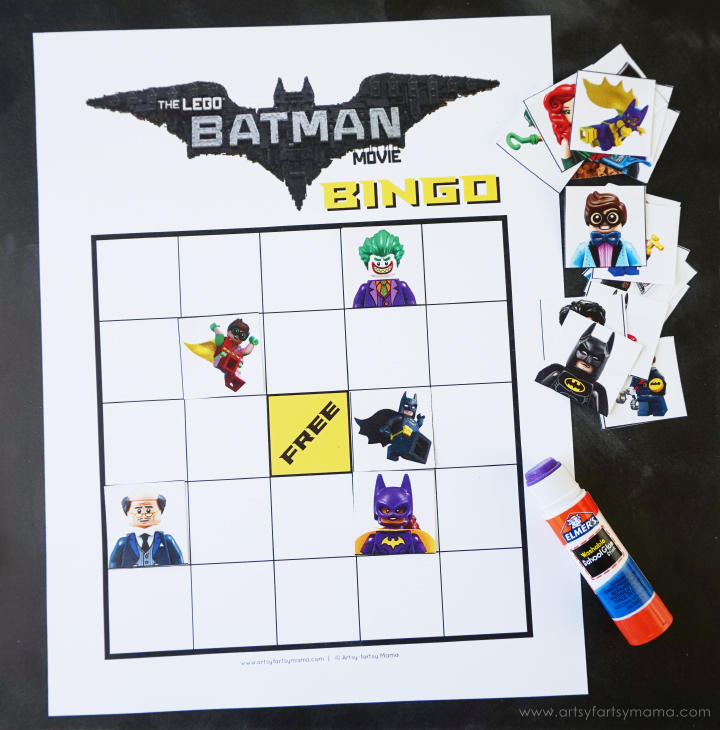 Download Free Printable LEGO Batman Movie Bingo