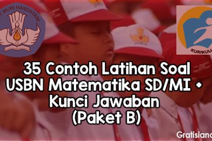 35 Contoh Latihan Soal USBN Matematika SD/MI + Kunci Jawaban (Paket B)