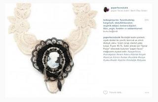 paper faces butik instagram dantel kolye cameo