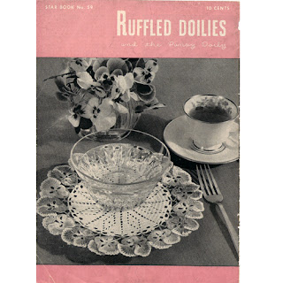 Vintage Doilies Back Cover Pattern Book, American Thread 59