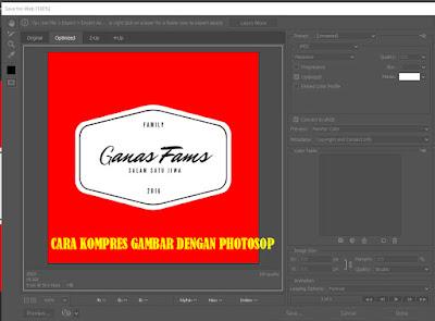 cara kompres gambar menggunakan photosop