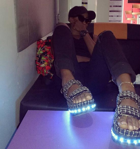 These sandals of YBNL Princess Temmie Ovwasa though
