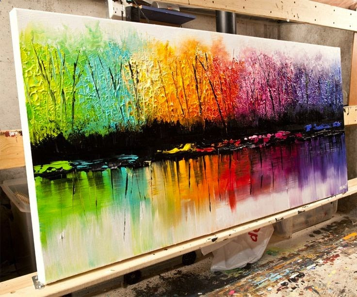 Abstract Painting Ideas Acrylic: Great Acrylic Painting By Osnat Tzadok
