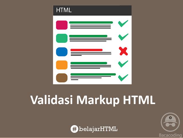 Cara Validasi Markup HTML