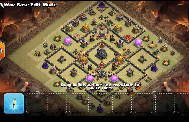Th9 War Base With Replays  With Bomb Tower Anti 3 Star Star Anti Everything