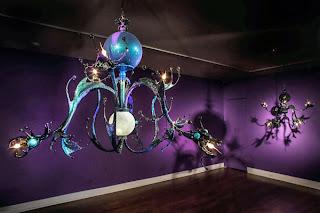 Decoración de interiores y lamparas o candelabros