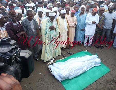 Aregbesola's mum interred amidst tears in Ilesa