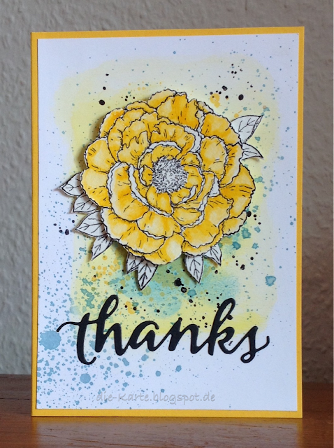 """Greenhouse-Gallica Rose"" Technique Tuesday, ""thanks"" Sugar Pea Design"