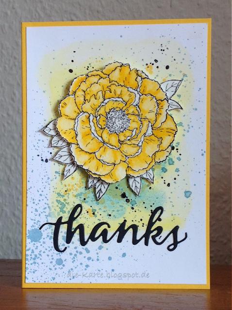 """Greenhouse-Gallica Rose"" Technique Tuesday, ""thanks"" Sugar Pea Design"