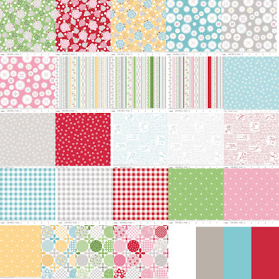 Riley Blake Designs POLKA DOT STITCHES Quilt Fabric by Lori Holt of Bee in my Bonnet