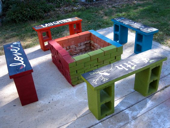 20 decoration ideas to make with concrete blocks 8