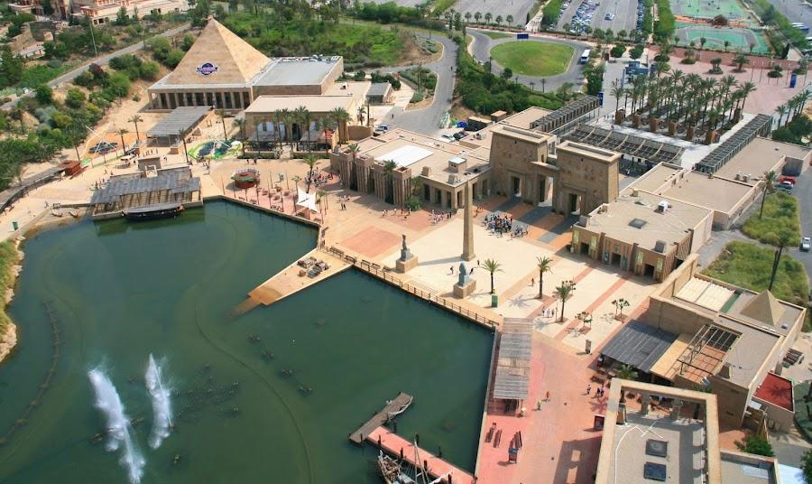 La zona de Egipto en Terra Mítica