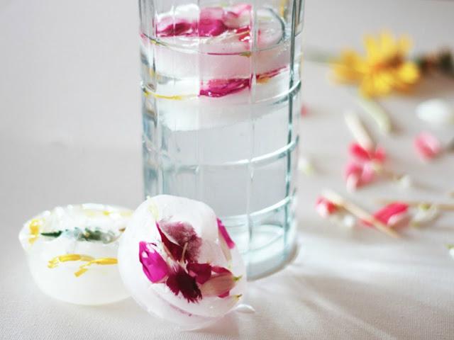 Como hacer cubitos de hielo con flores
