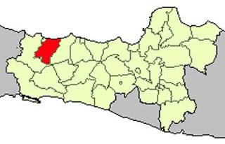 Gambar Peta Lokasi Kabupaten Tegal