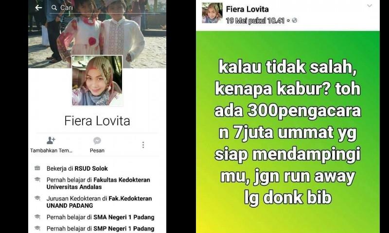 Status dr Fiera Lovita yang dianggap menyindir Rizieq