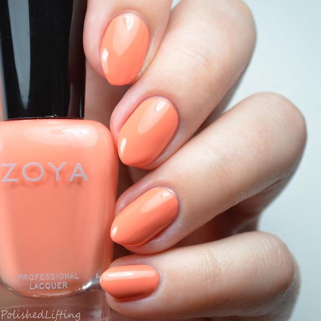 orange nail polish swatch
