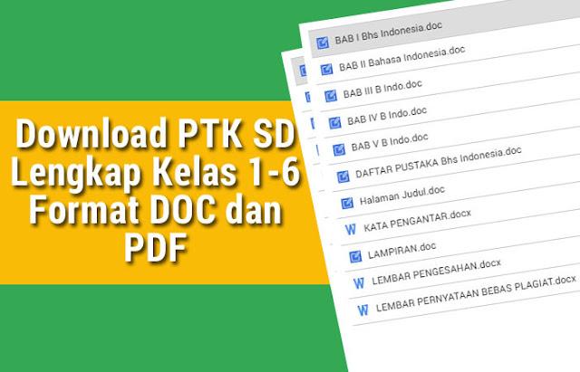 Download PTK SD Lengkap Kelas 1-6 Format DOC dan PDF