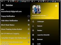 Download BBM MOD Yellow Dark Apk Terbaru