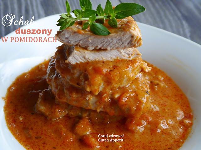 Schab duszony w pomidorach a`la pizza - Czytaj więcej »