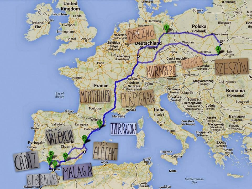 autostop | hiszpania | podróż