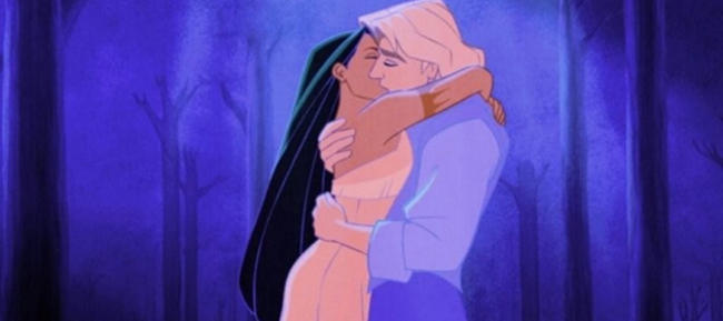 Pocahontas and Smith Pocahontas 1995 animatedfilmreviews.filminspector.com