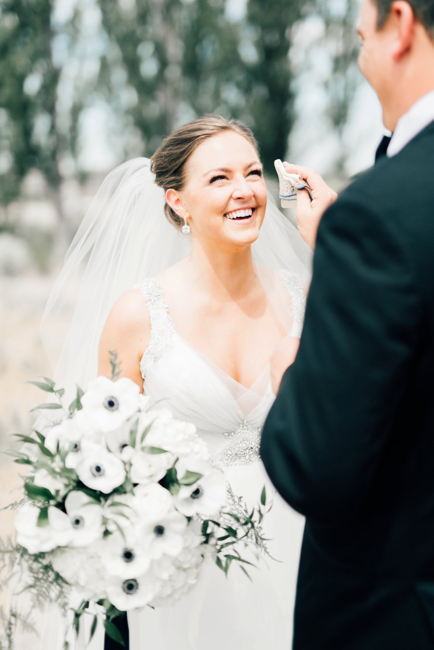 First Look by Washington Wedding Photographer Something Minted