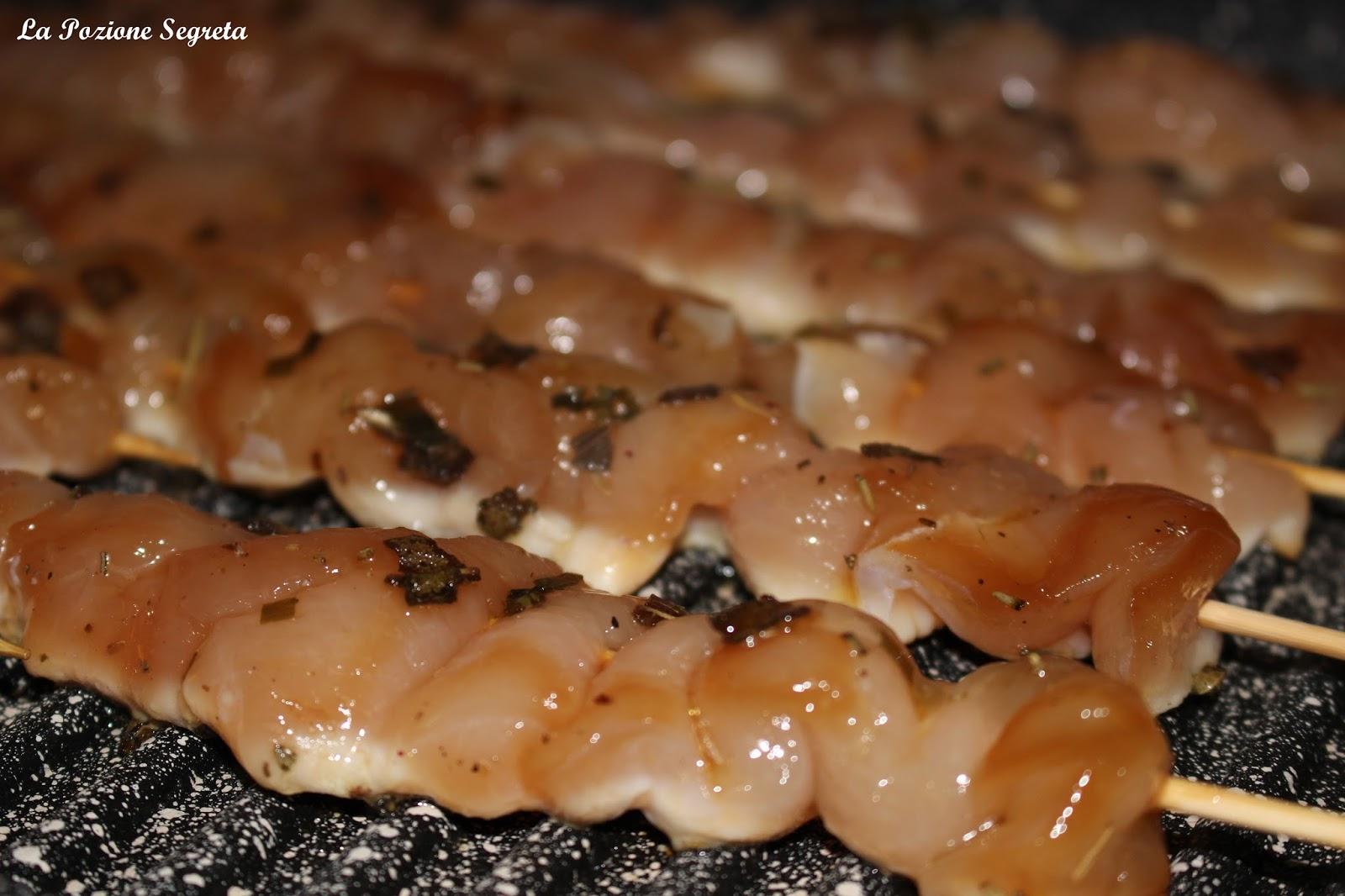 La pozione segreta arrosticini di pollo for Cucinare x celiaci