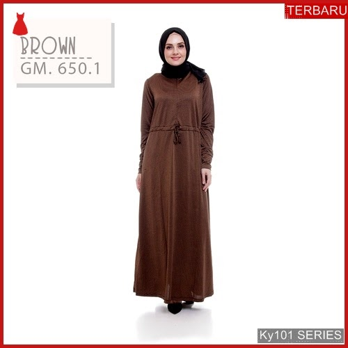 Ky101g97 Gamis Muslim Kanzia Murah Dress Bmgshop Terbaru