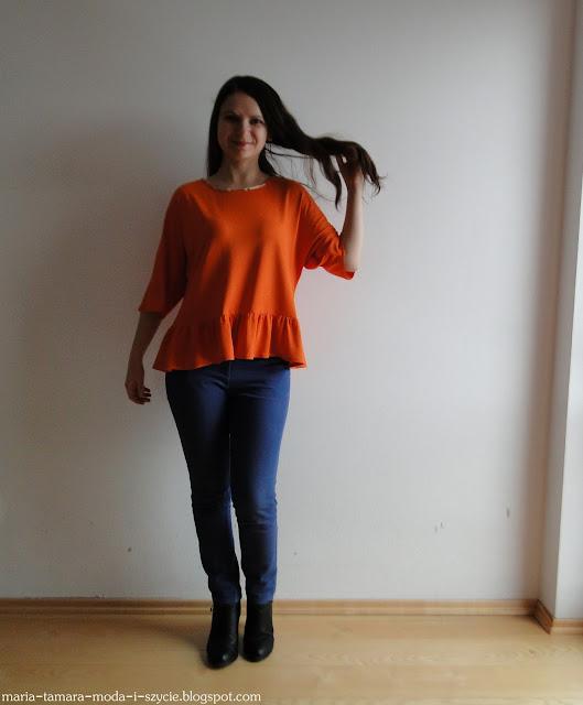 bluzka pomarańczowa dzianina