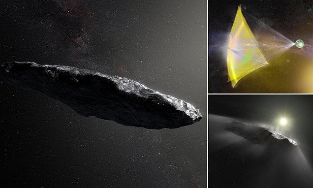 Oumuamua, alien sail