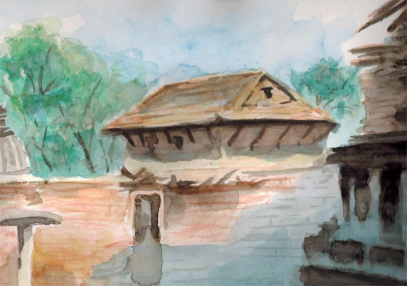 Religious Site in Watercolor
