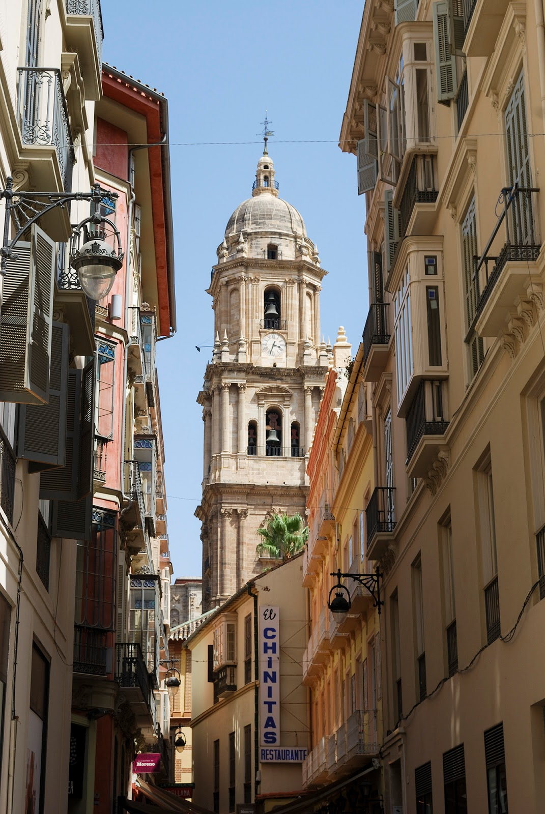 old town cathedral larios malaga spain