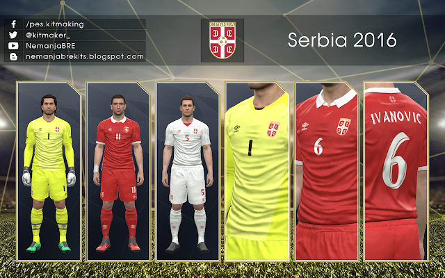 PES 2017 PC / PS4 Serbia 2016 GDB Kits by NemanjaBRE