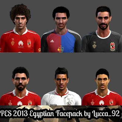 PES 2013 Egyptian Facepack by Lucca_92 Facemaker