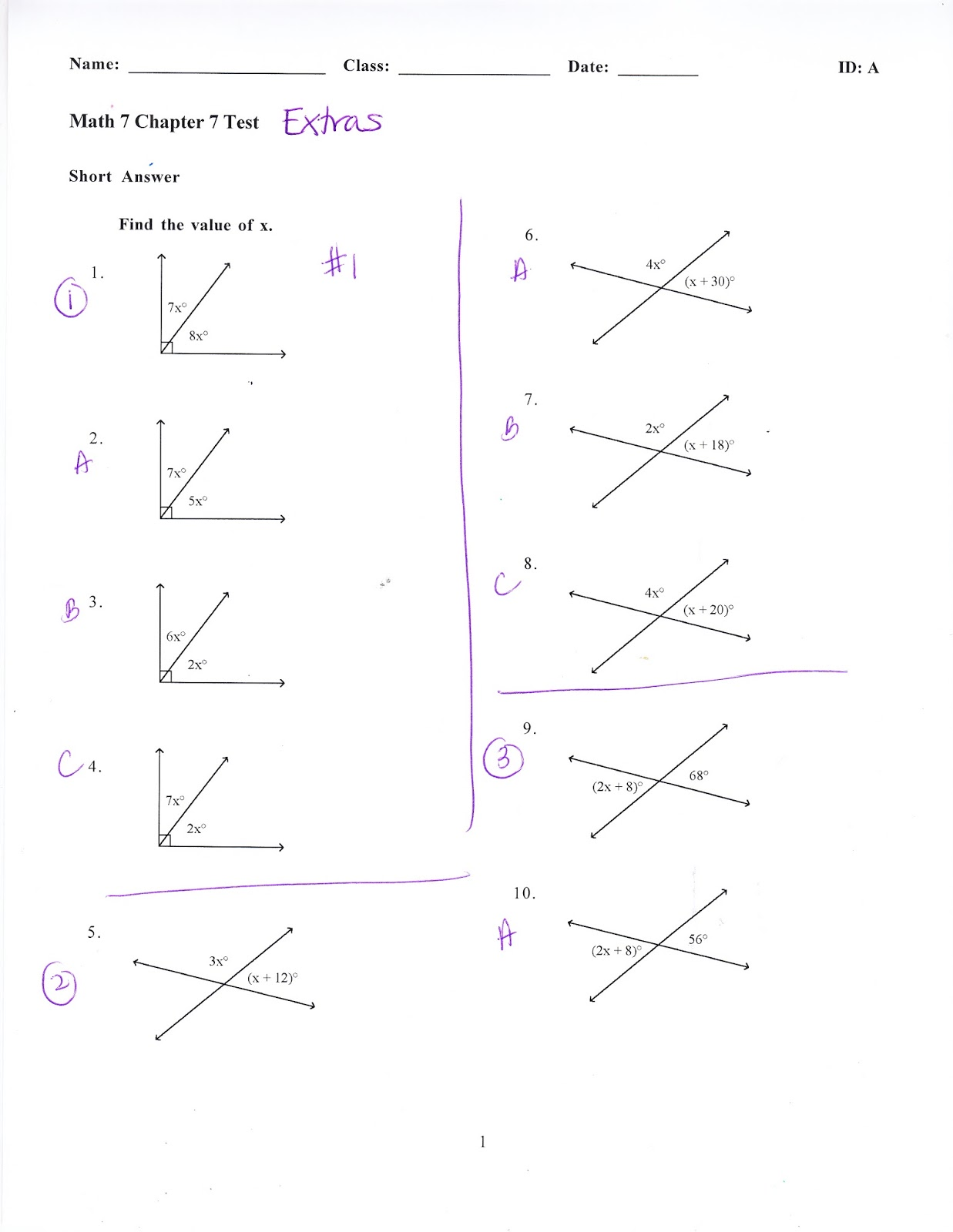 Ms. Jean's Classroom Blog: Math 7 Chapter 7 Test EXTRAS