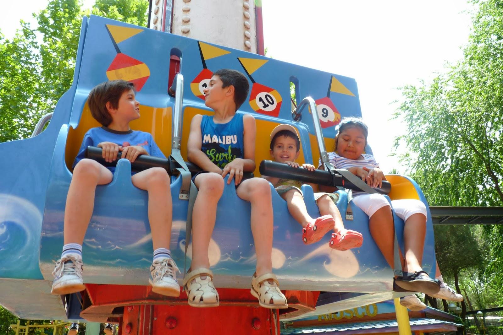 La Lanzadera Infantil del Parque de Atracciones de Madrid.