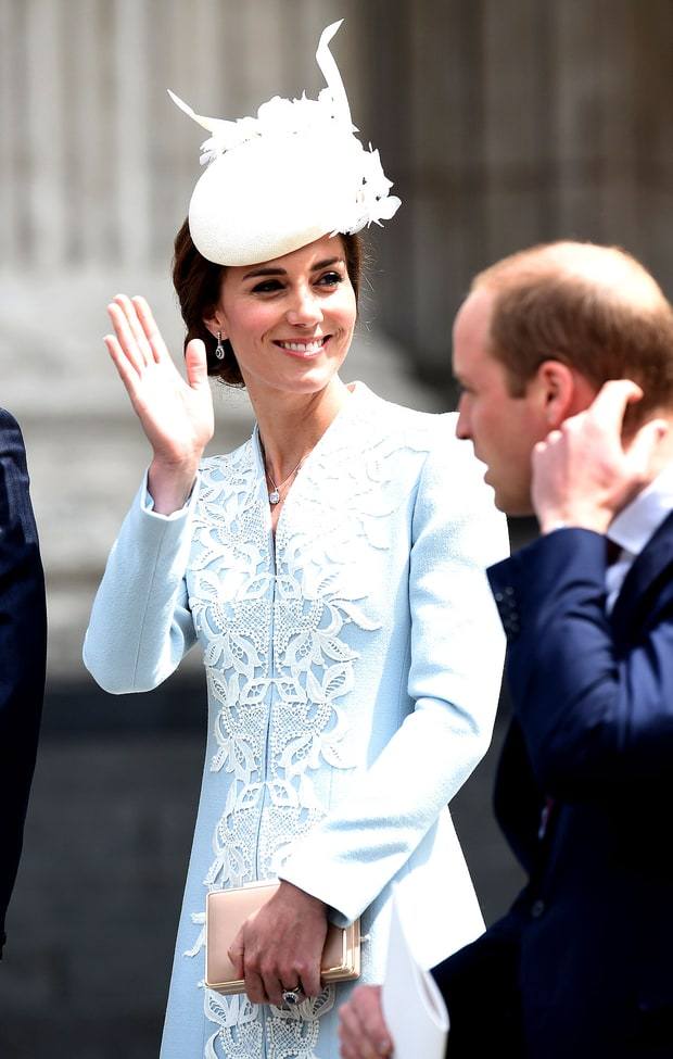 Duchess Kate in blue at Queen's 90th birthday service