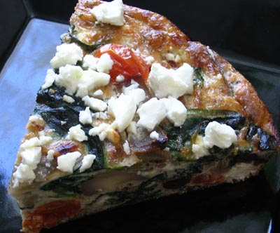 Greek feta olive frittata