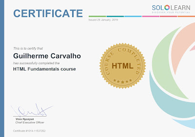 Certificado SoloLearn