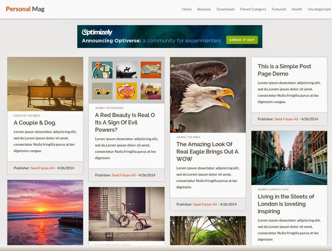 Personal Mag Blogger Template