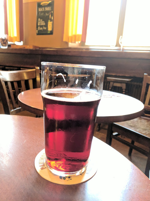 Cranberry cider at Panimoravintola Koulu in Turku on a Southern Finland road trip