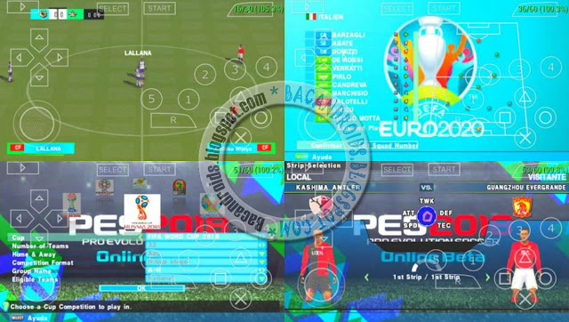Screenshoot PES Army 2018 ISO High Compress For PPSSPP Emulator Android Versi Terbaru